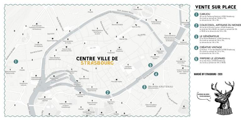 carte centre ville strasbourg marche off
